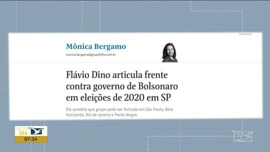 Jornalista Mônica Bergamo anuncia em coluna que Flávio Dino articula contra Jair Bolsonaro