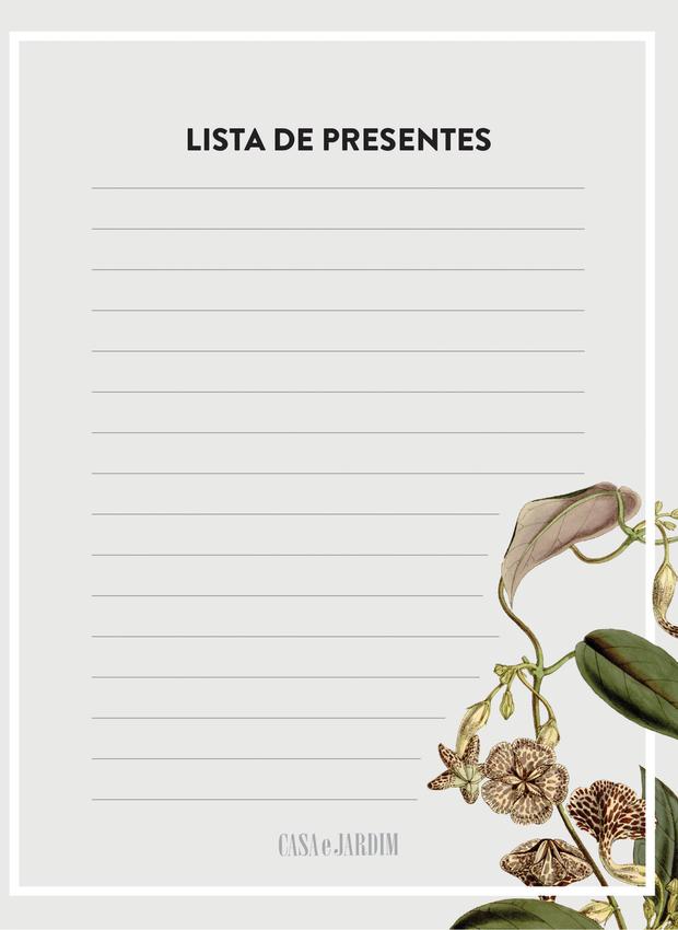 lista-de-presente-chá-da-casa (Foto: Ilustração Victor Amirabile)