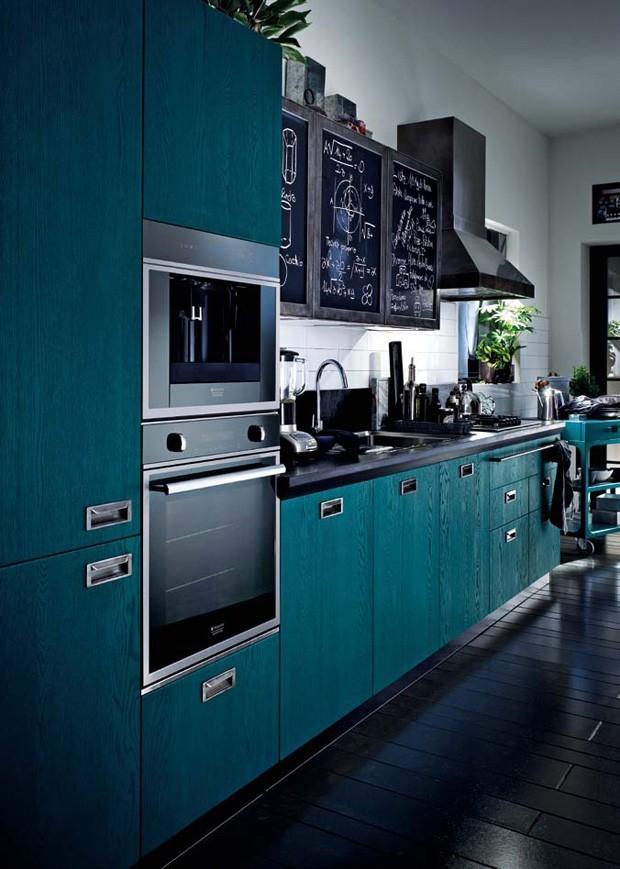 Décor do dia: cozinha vestida de azul (Foto: Reprodução)