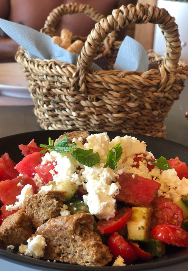 Salada Grega Solymar (Foto: Arquivo pessoal)