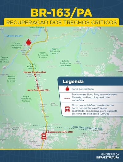 mapa-163 (Foto: Ministério da Infraestrutura)