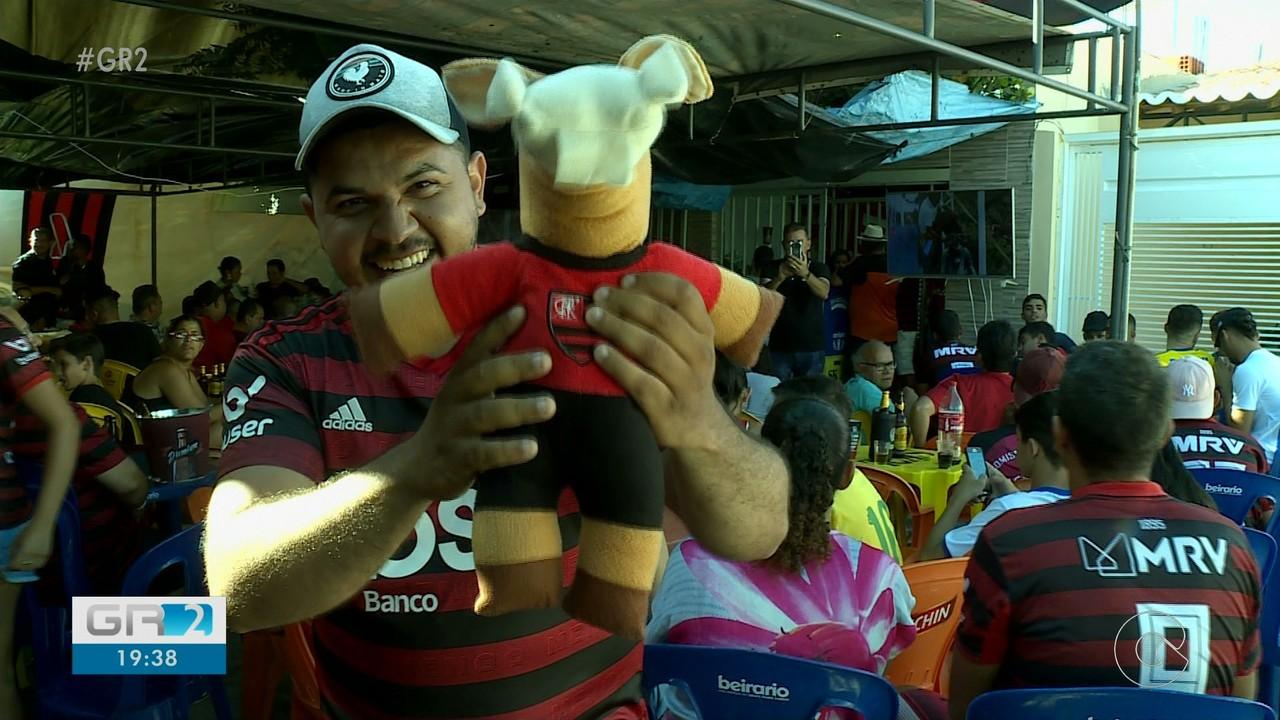 Torcedores do Flamengo se reúnem em Petrolina para ver a final do Mundial de Clubes