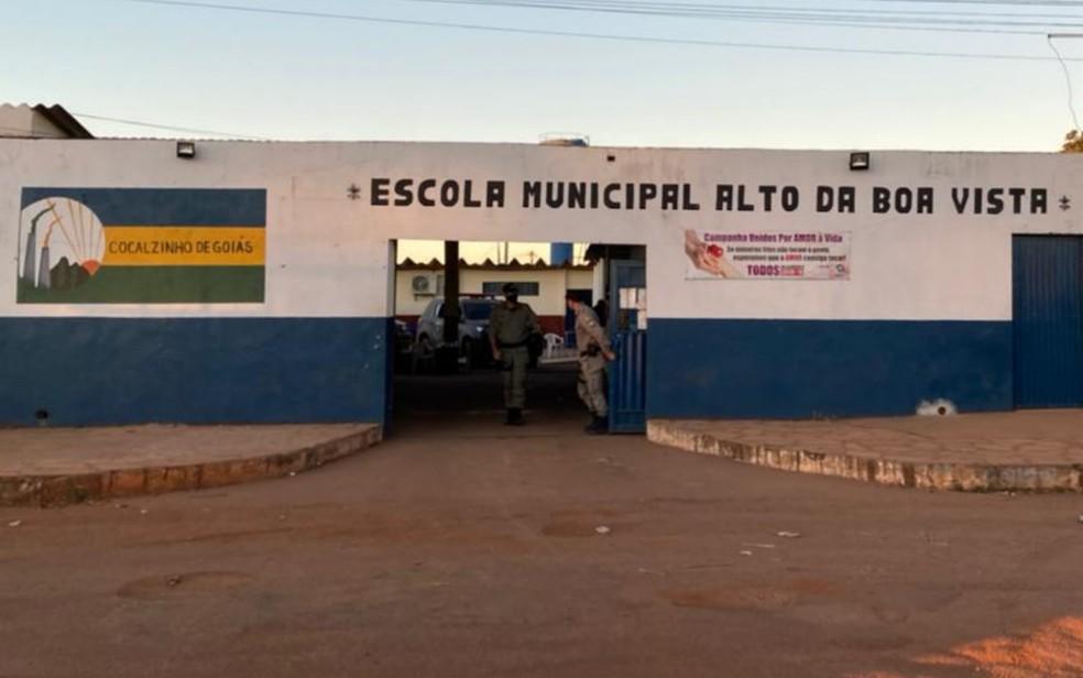 Base da força-tarefa que procura por Lázaro Barbosa em Cocalzinho de Goiás — Foto: Eduardo Marins/TV Anhanguera