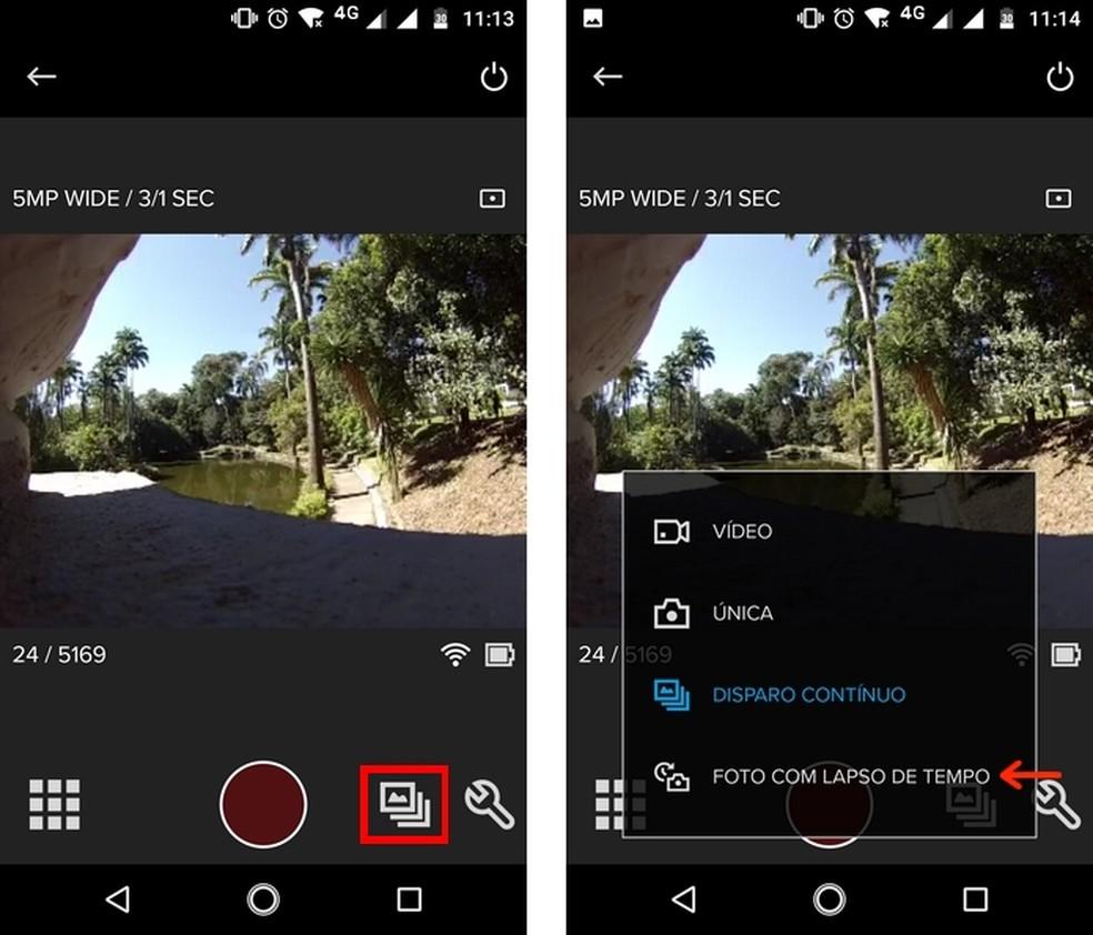 Como fazer o efeito time lapse com o GoPro App pelo Android