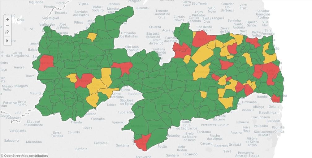 Mapa das prefeituras na PB que mais gastam com pessoal está disponível no Sagres do TCE (Foto: Reprodução/TCE)