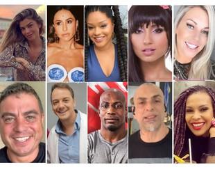 Participantes mais marcantes das edições 3, 4 e 5 do 'Big Brother Brasil'   Reprodução/redes sociais e TV Globo