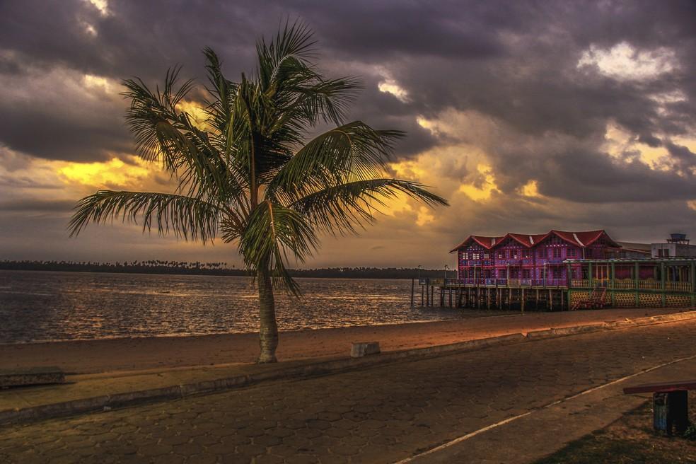 Praia da Aldeia, em Cametá. — Foto: Toninho Castro - Prefeitura de Cametá