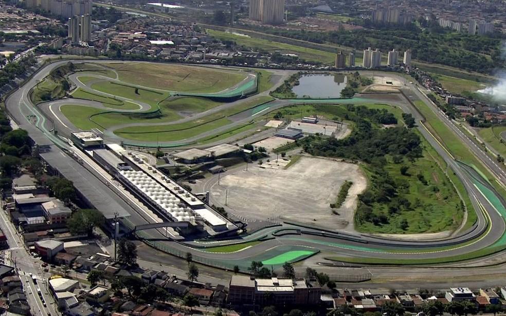 Autódromo de Interlagos, na Zona Sul de SP — Foto: Reprodução/TV Globo