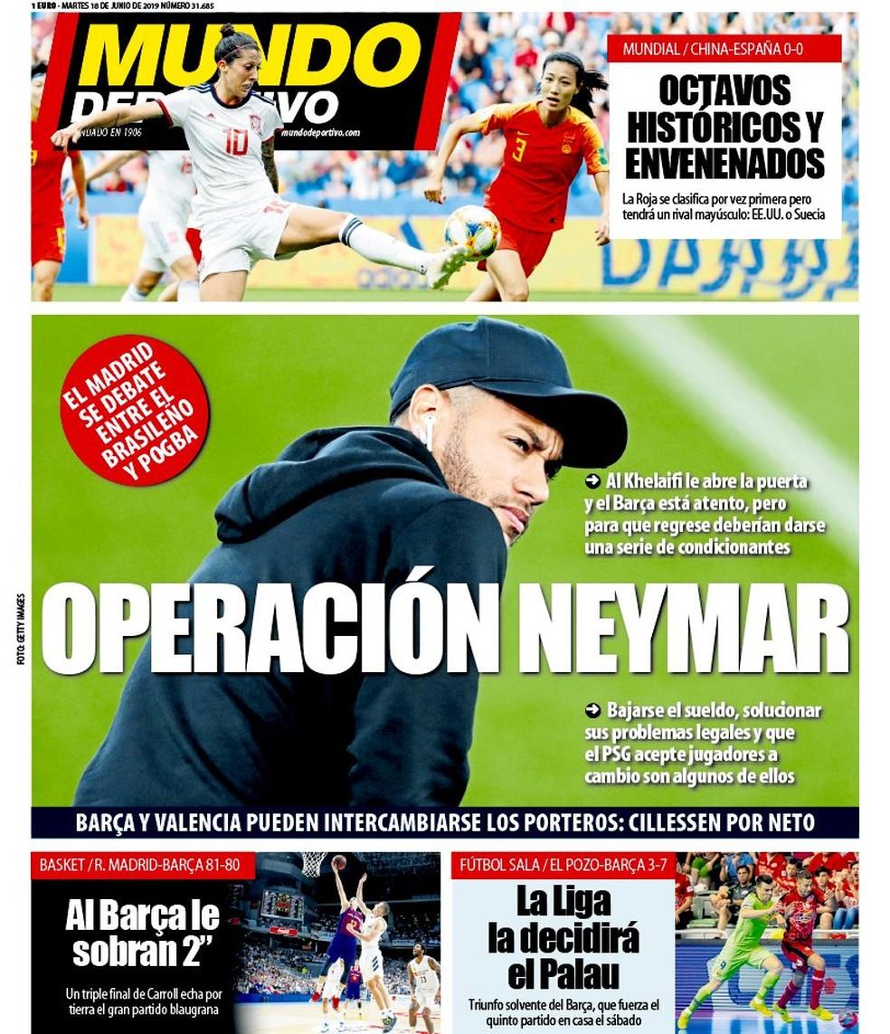Mundo Deportivo - Operação Neymar — Foto: Reprodução / Mundo Deportivo