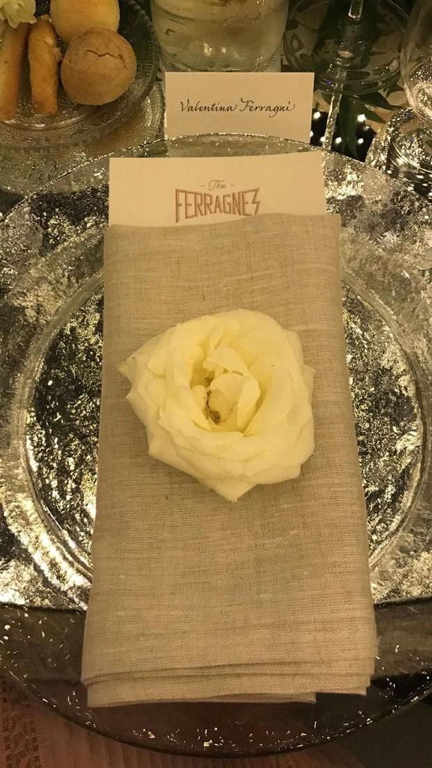 Casamento Chiara Ferragni e Fedez: Decoração de mesa do jantar oficial (Foto: Instagram/Reprodução)
