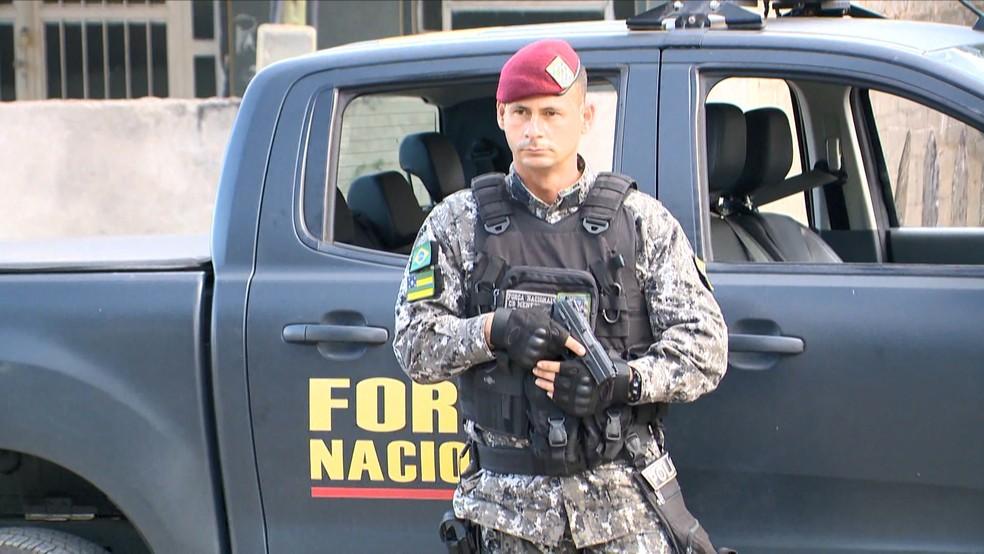 Força Nacional vai ficar mais seis meses em Cariacica — Foto: Reprodução/ TV Gazeta