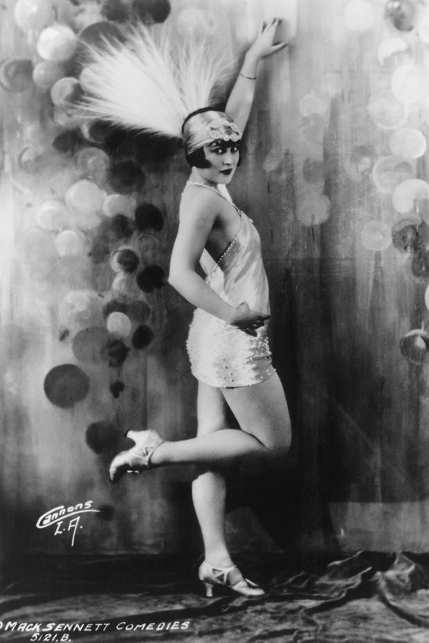 """Uma """"flapper"""", 1925 aproximadamente (Foto: Getty Images)"""