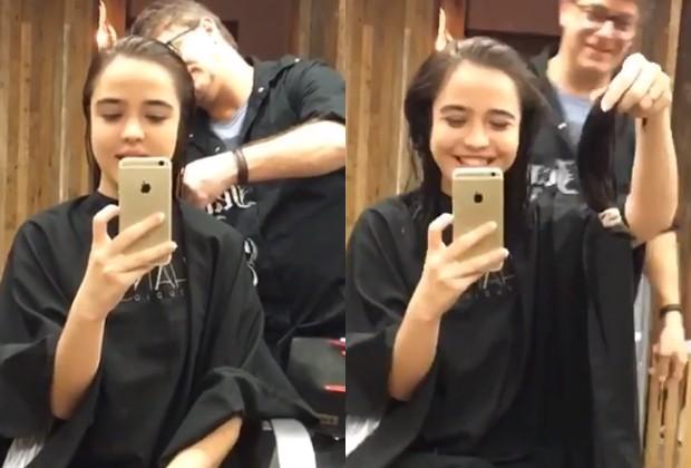 Bella Piero muda o corte dos cabelos (Foto: Reprodução/Instagram)