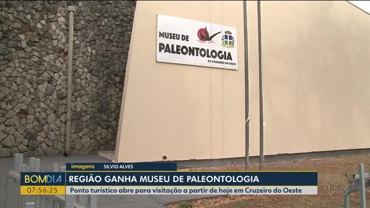 Após descoberta de espécie inédita de dinossauro no interior do Paraná, museu de paleontologia ganha espaço maior