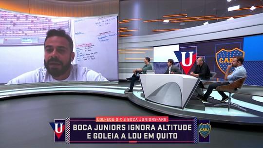 Fisiologista explica estratégia usada pelo Boca Juniors em jogo na altitude contra a LDU