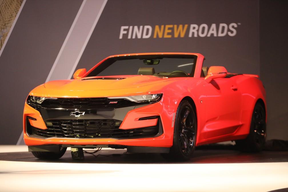Chevrolet revela novo Camaro no Salão do Automóvel — Foto: Fábio Tito/G1