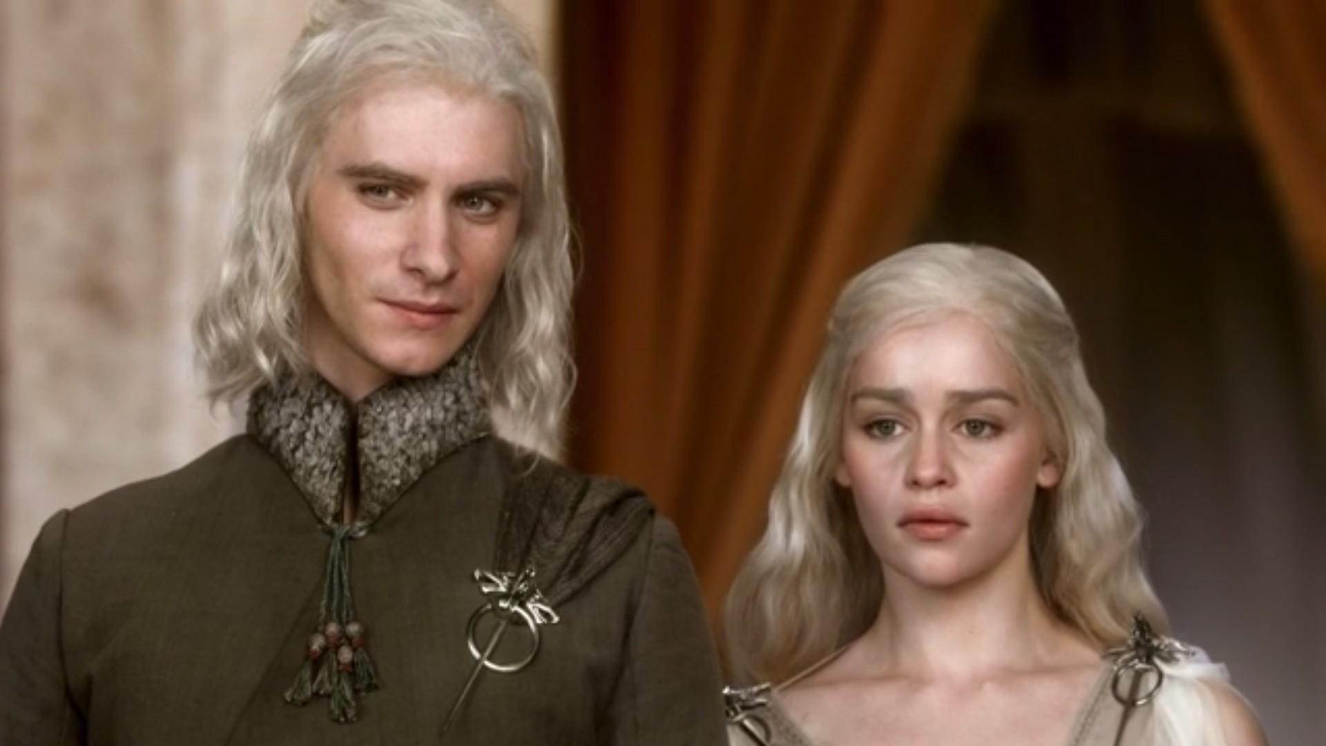Viserys (Harry Lloyd) e Daenerys (Emilia Clarke) na primeira temporada de Game of Thrones (Foto: Game of Thrones / reprodução)
