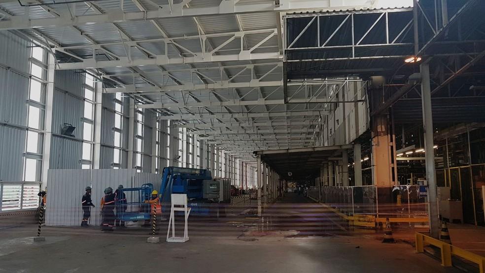Obras de início da ampliação da fábrica da GM em São Caetano do Sul, SP, devem terminar dentro de 1 ano; unidade vai produzir modelo inédito (Foto: Rafael Miotto/G1)