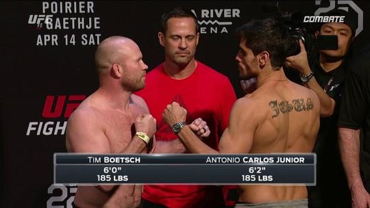 Tim Boetsch e Antônio Cara de Sapato passam pela pesagem dos Peso-médio no UFC 224
