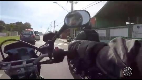 Vídeo mostra perseguição que terminou na prisão de grupo especializado em roubo de carros em MS