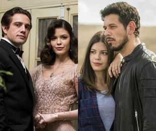 Vitória Strada com Rafael Cardoso e João Vicente de Castro em 'Espelho da vida' | TV Globo