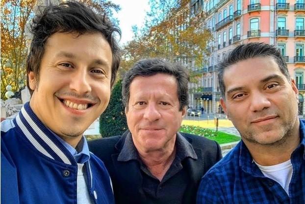 Raphael Vieira, Joaquim de Almeida e Márcio Rosário (Foto: Arquivo pessoal)