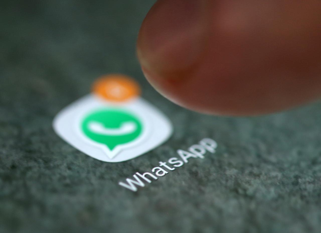 Aplicativo do WhatsApp em smartphone