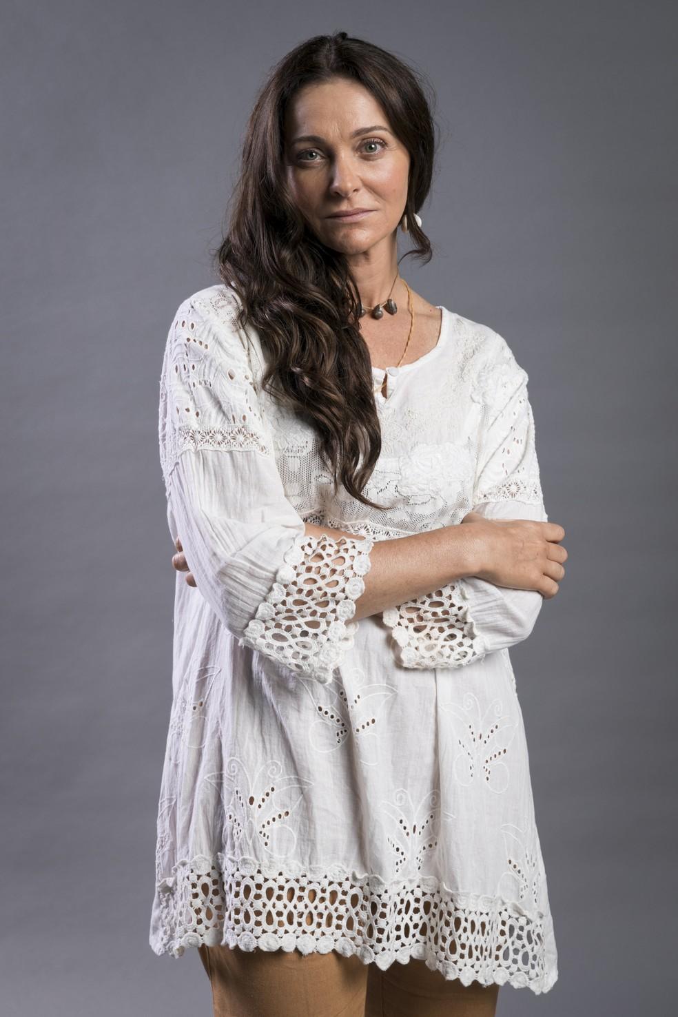 Alexandra Richter é Monalisa em 'O Tempo Não Para' — Foto: João Miguel Junior/Globo