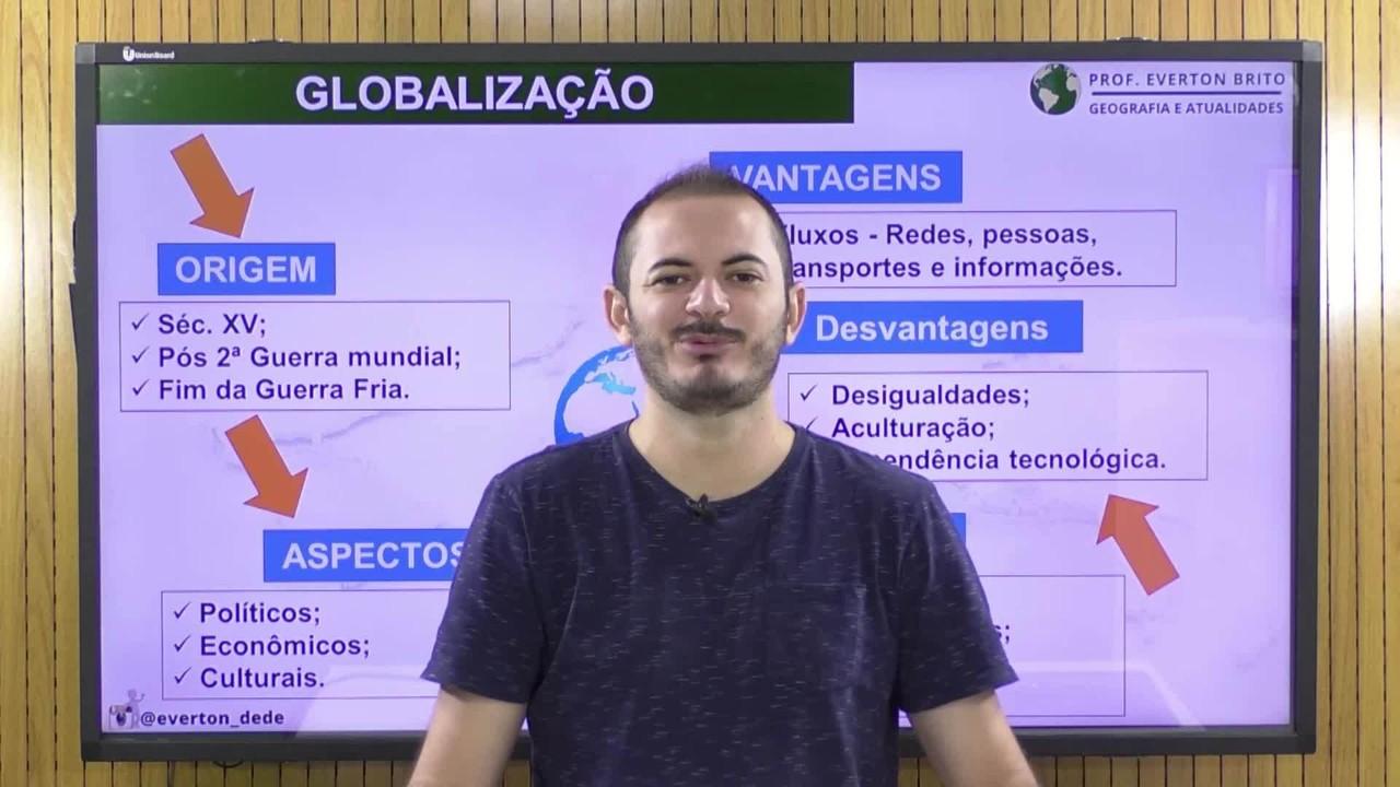 De boa no Enem: Em videoaula, professor de geografia revisa tema da globalização