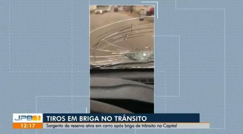 Sargento da PM é preso após atirar em motorista durante briga de trânsito na PB; veja o vídeo