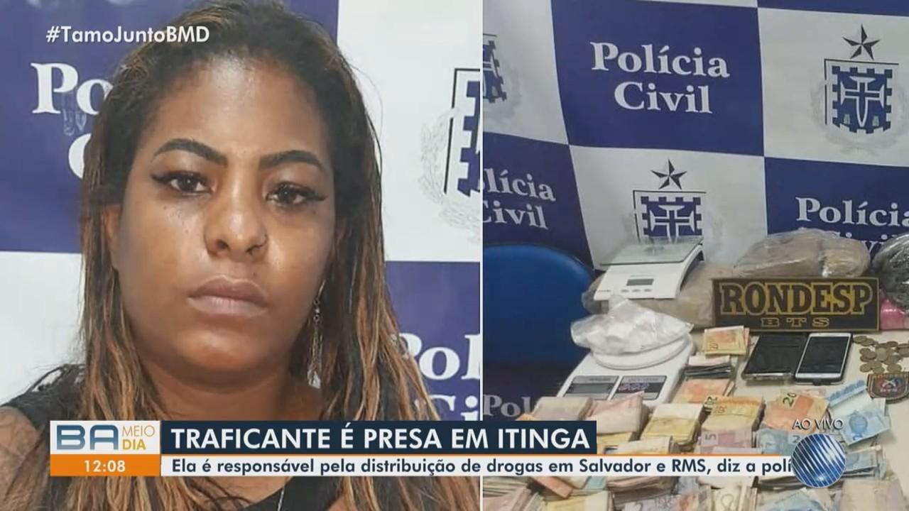 Mulher é presa no bairro de Itinga, acusada de comandar tráfico de drogas na capital e RMS