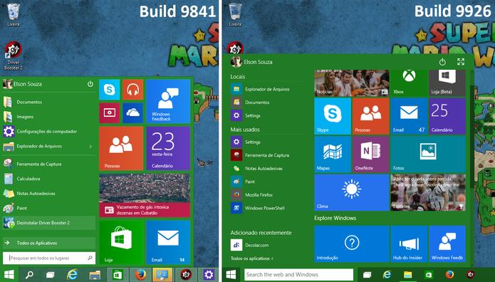 Windows 10 teve Menu Iniciar modficado pela Microsoft na build mais recente (Foto: Reprodução/Elson de Souza)