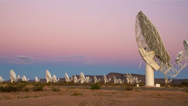 O rádio telescópio MeerKat criado pelo governo da África do Sul (Foto: Divulgação)