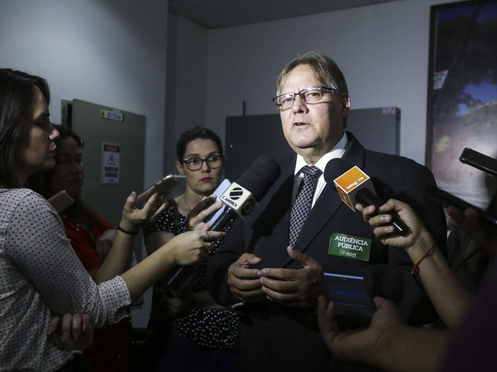 Gilberto Figueiredo participou de reunião em Brasília — Foto: Karen Malagoli/ ALMT