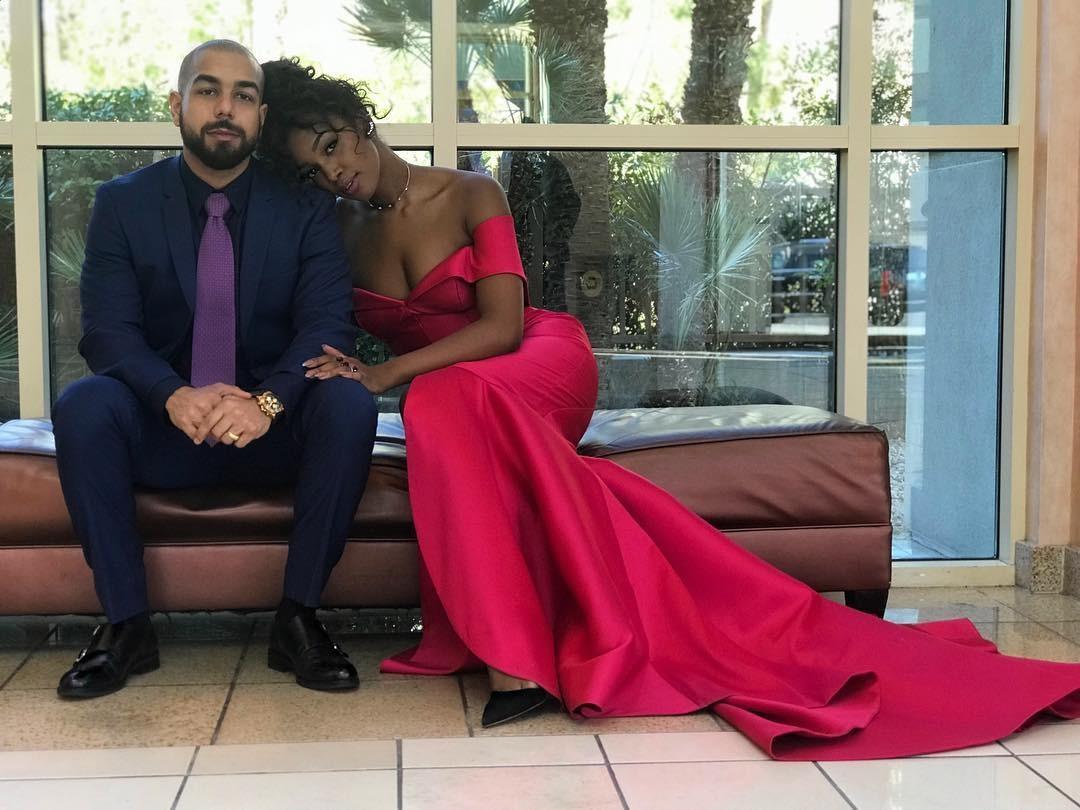 O casal Sergio Santos e Iza (Foto: Reprodução/Instagram)