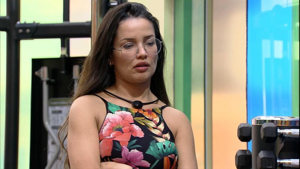 Viih Tube reforça opção de voto e sister comenta: 'Não queria ir com ele' — Foto: Globo