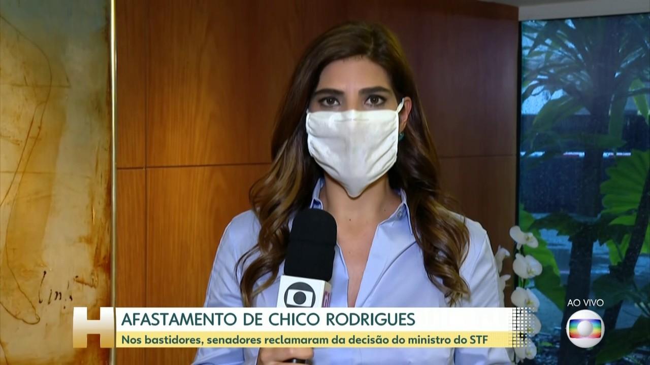 Andréia Sadi: senadores reclamam da decisão de ministro que afastou Chico Rodrigues