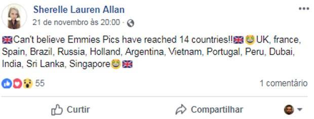 Mãe de Emmie Allan, sósia de Emma Watson, fala da repercussão internacional (Foto: Reprodução/Facebook)