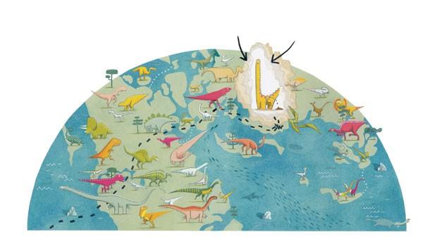 Mordisco, o Monstro de Livro e Mordisco, o Guia dos Dinossauros, textos e ilustrações de Emma Yarlett, Ciranda Cultural, R$ 44,90 (cada). A partir de 4 anos. (Foto: Reprodução)