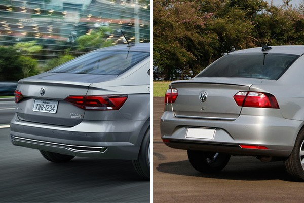 Volkswagen Virtus e Voyage (Foto: Autoesporte)