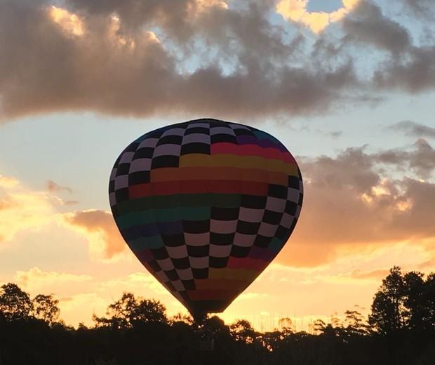 O passeio de balão é a mais nova atração do Tarundu (Foto: Malu Echeverria)