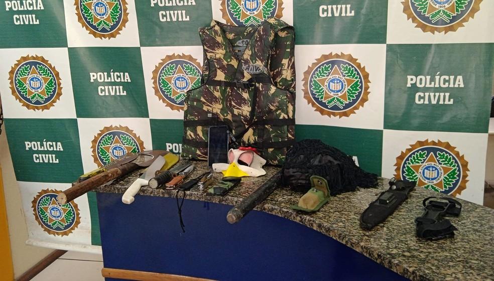 Homem é preso após ameaçar esposa em Paraty — Foto: Secretaria de Segurança e Ordem Pública