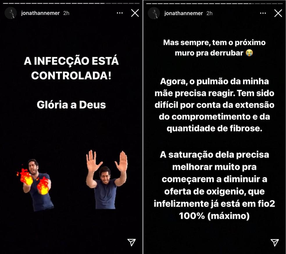 Mãe de humorista de Marília se recupera de superbactéria, mas estado de saúde ainda é grave — Foto: Instagram/Reprodução