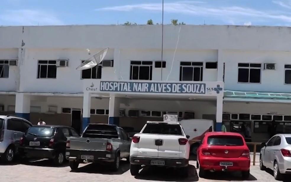 Hospital Nair Alves de Souza, em Paulo Afonso, onde criança estava internada na Bahia — Foto: Reprodução/TV Santa Cruz