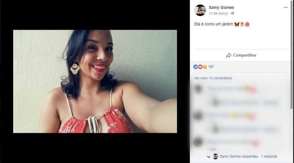 Samira Gomes e uma tia morreram no acidente (Foto: Facebook/Reprodução)