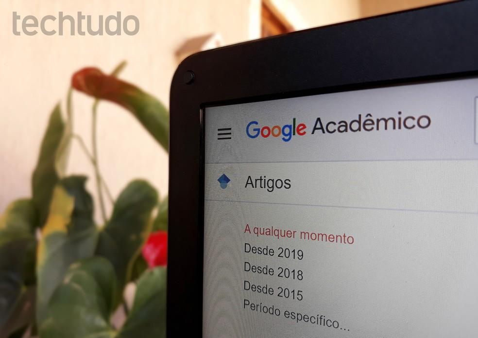 Google Acadêmico é ferramenta ideal para pesquisas científicas — Foto: Ana Letícia Loubak/TechTudo