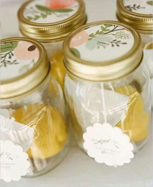 Lembrancinhas de casamento: Kit de chá (Foto: Pinterest/Reprodução)