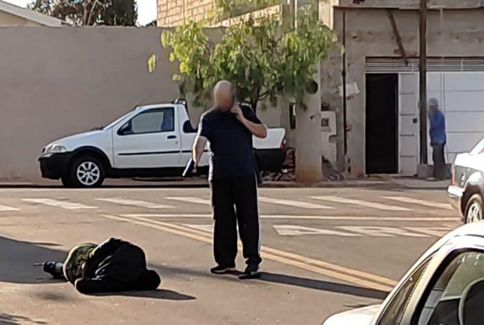 Comerciante de Pirassununga reage a roubo e atira em assaltante — Foto: Polícia Civil