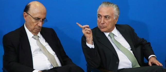 Henrique Meirelles e Michel Temer