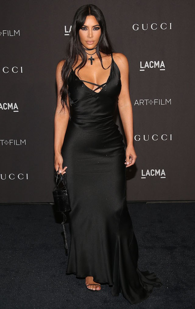 Kim Kardashian no LACMA Art + Film Gala, em parceria com a Gucci (Foto: Getty Images)